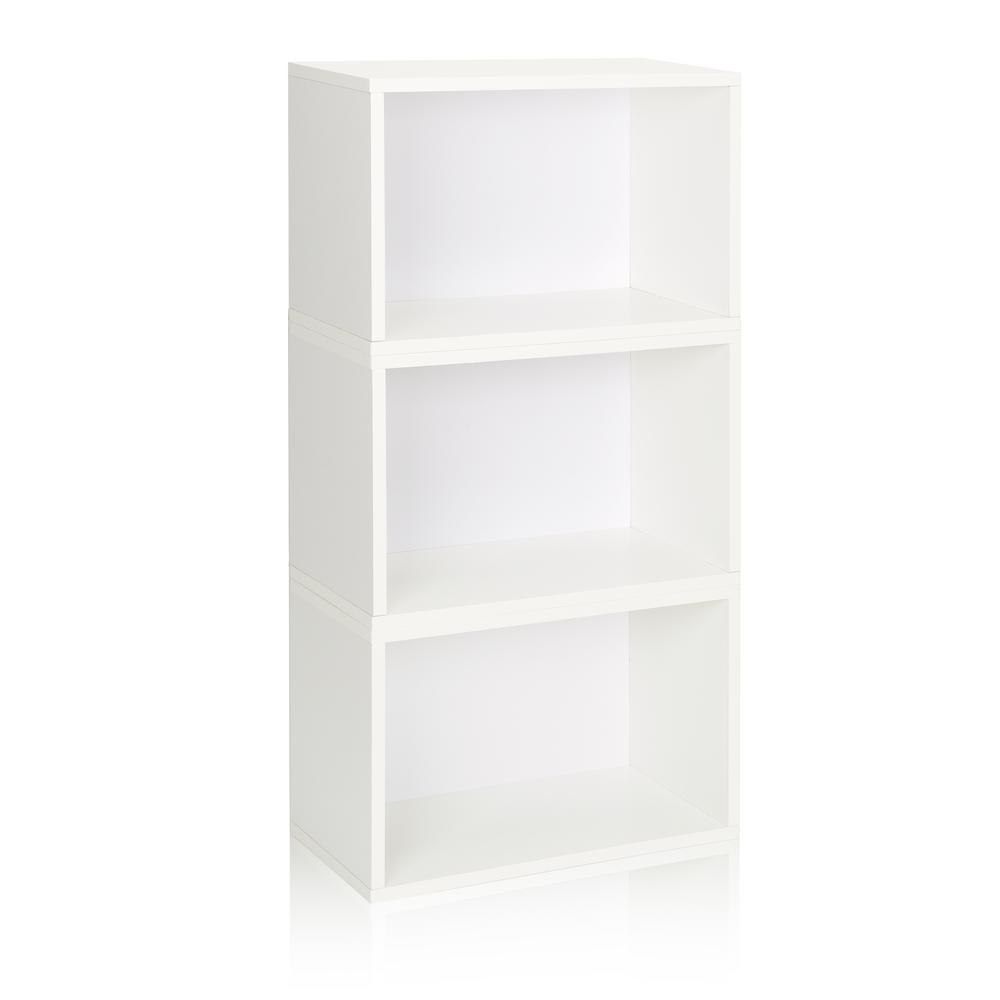 Way Basics Hillcrest Eco zBoard Tool Free Assembly White Stackable Modular Open Bookcase