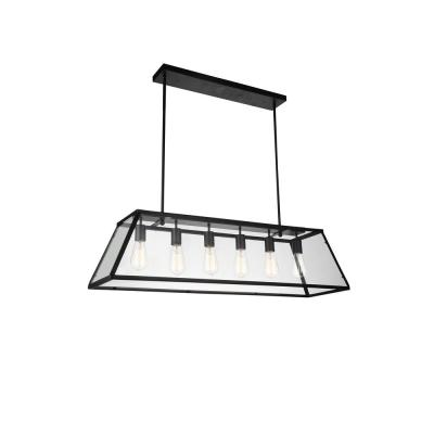 Alyson 6-Light Black Chandelier