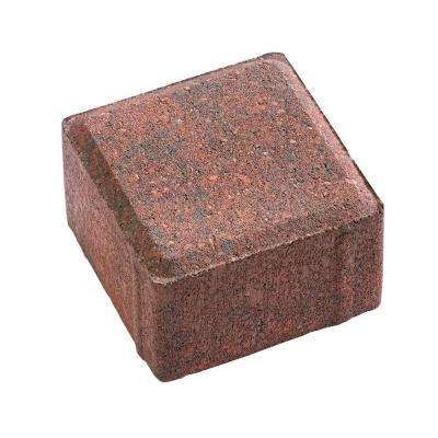 8 in. x 4 in. x 2.25 in. Red/Charcoal Concrete Holland Paver