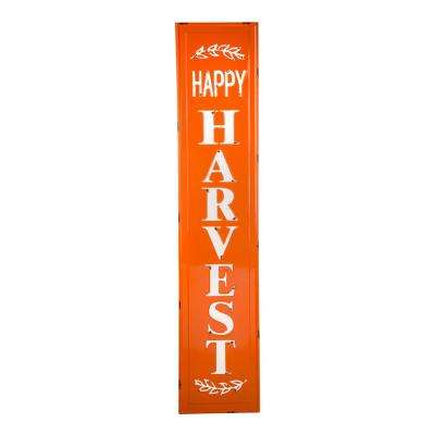 43 in. H Enameled Metal Harvest Porch Sign