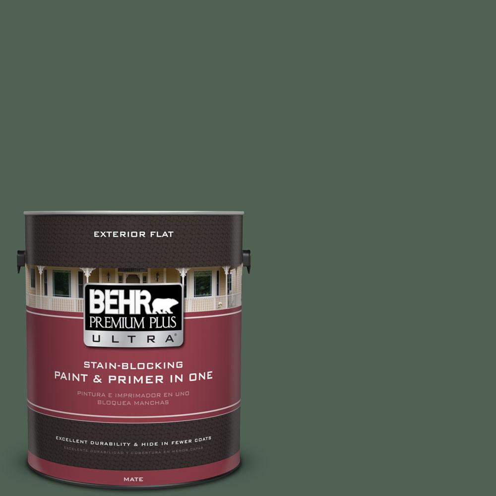 1-gal. #BXC-60 Pasture Green Flat Exterior Paint