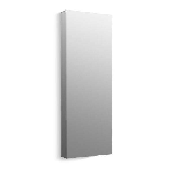 Maxstow 15 in. x 40 in. Frameless Surface-Mount Aluminum Medicine Cabinet