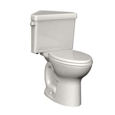 Cadet 3 Powerwash Triangle Tall Height 2-piece 1.6 GPF Single Flush Elongated Toilet in White, Seat Not Included