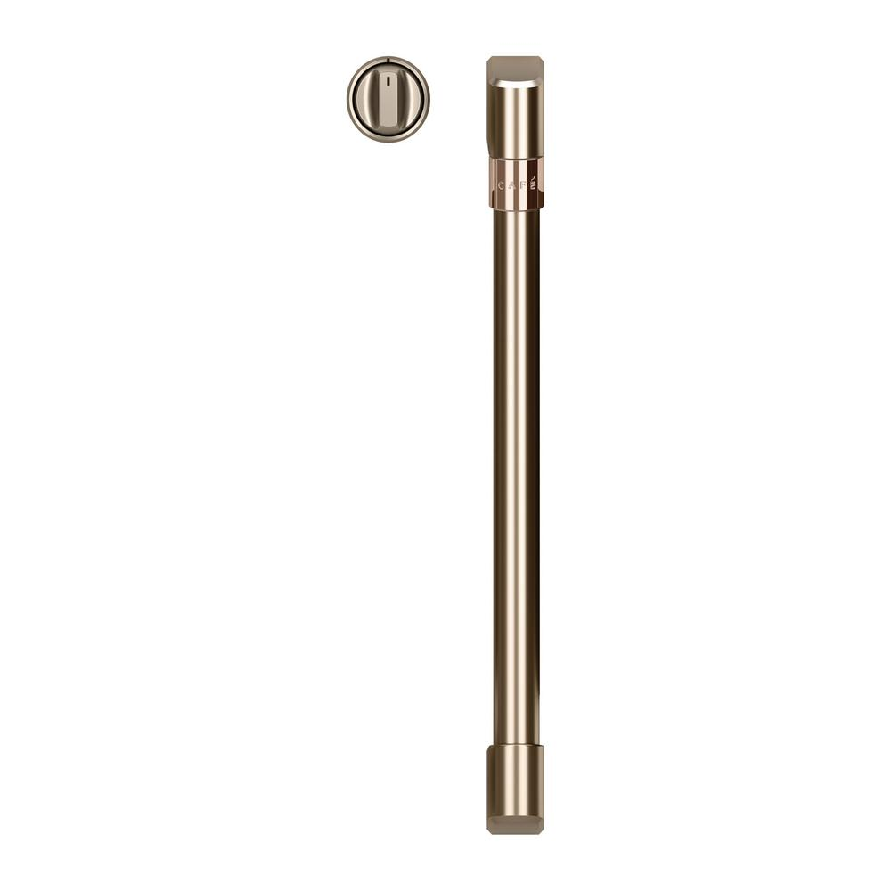 Double Convection Wall Oven Handle and Knob Kit in Brushed Bronze