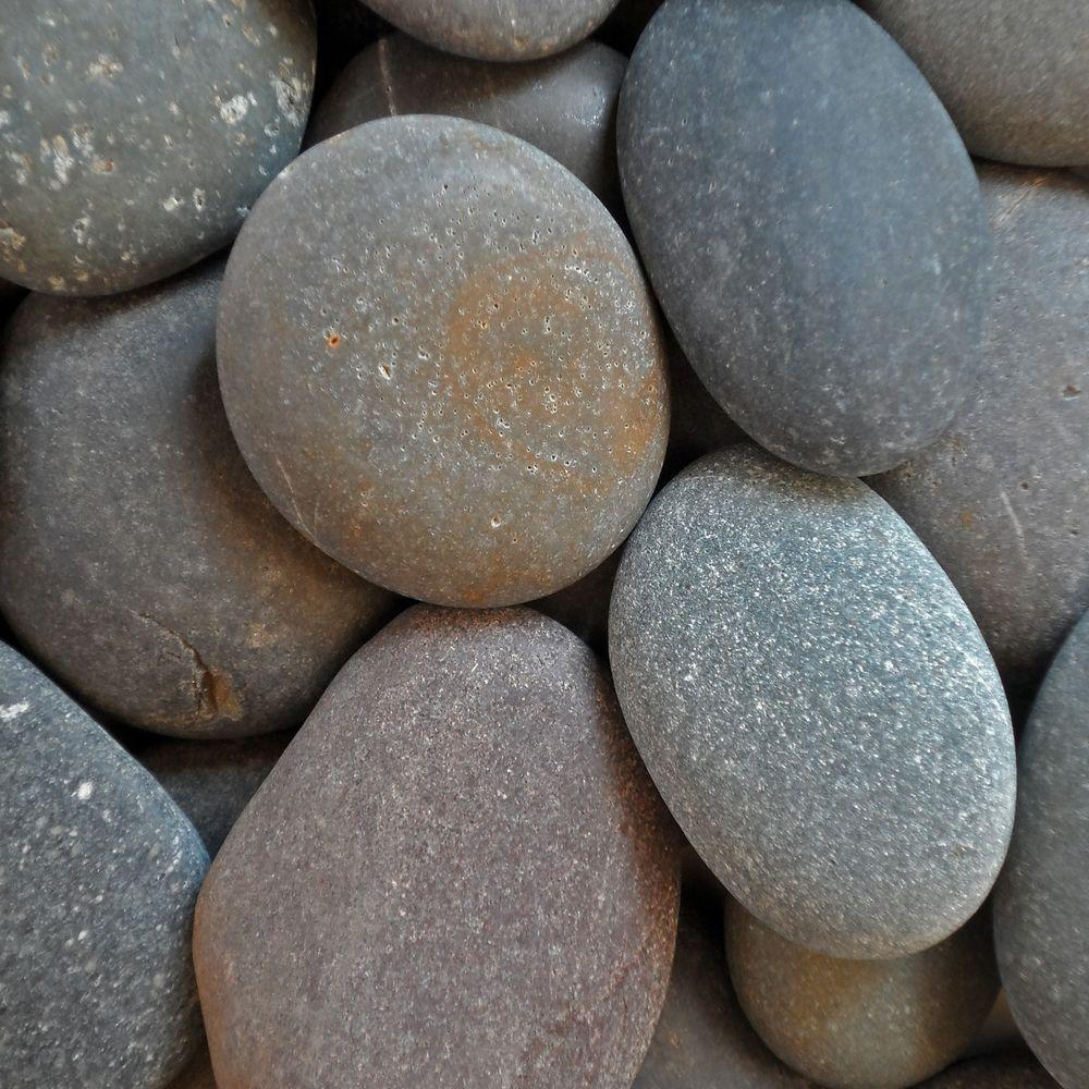 Butler Arts 10 cu. ft. 2 in. - 3 in. Pallet Black Mexican Beach Unpolished Pebble