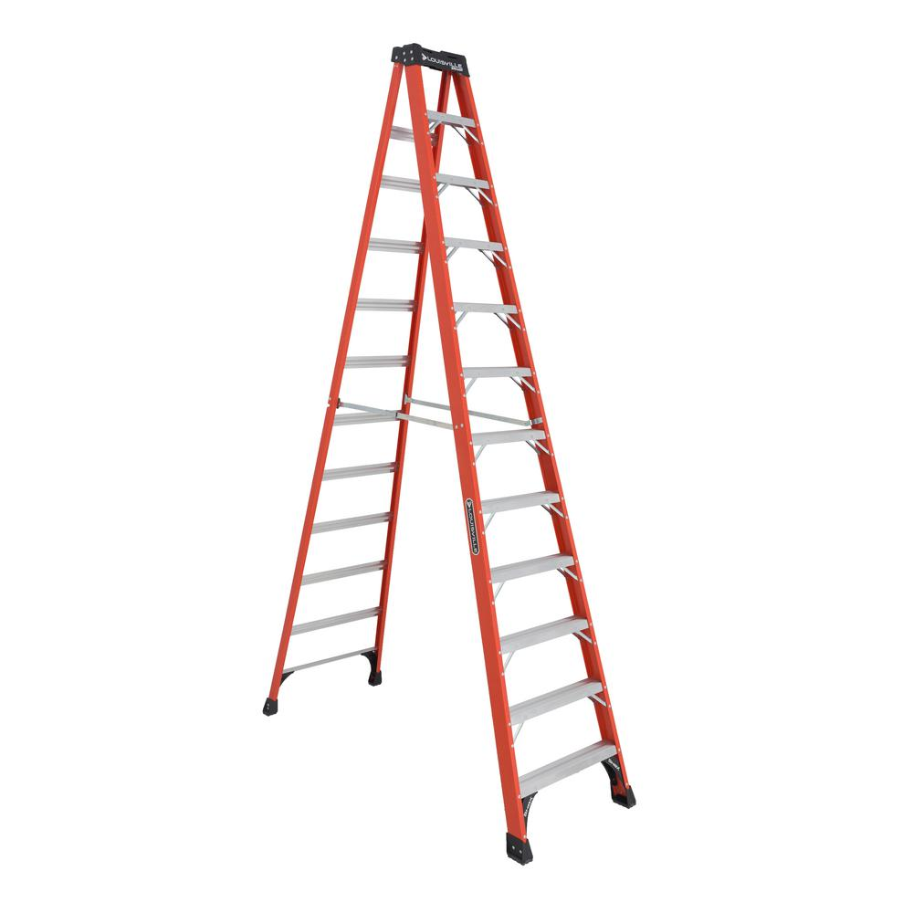 12 ft. Fiberglass Step Ladder with 375 lbs. Load Capacity Type