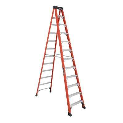 12 ft. Fiberglass Step Ladder with 375 lbs. Load Capacity Type IAA Duty Rating