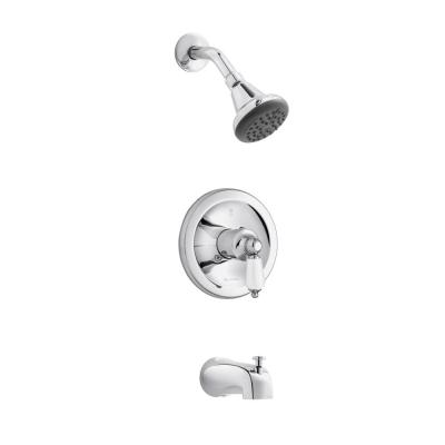 Teapot Single-Handle Tub and Shower Faucet in Chrome (Valve Included)