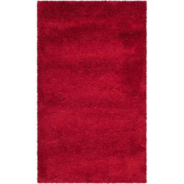 Milan Shag Red 3 ft. x 5 ft. Area Rug