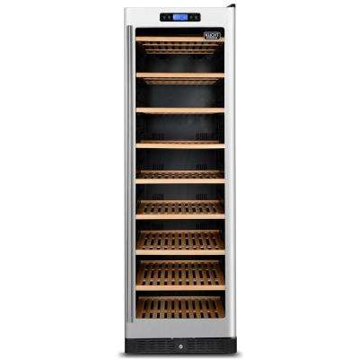 177-Bottle Dual Zone Wine Cooler Built-in with Compressor in Stainless Steel