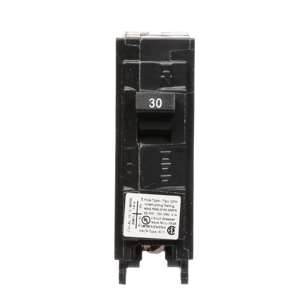 Siemens 30 amp 1 pole 22 ka type qph circuit breaker q130h the siemens 30 amp 1 pole 22 ka type qph circuit breaker keyboard keysfo Gallery