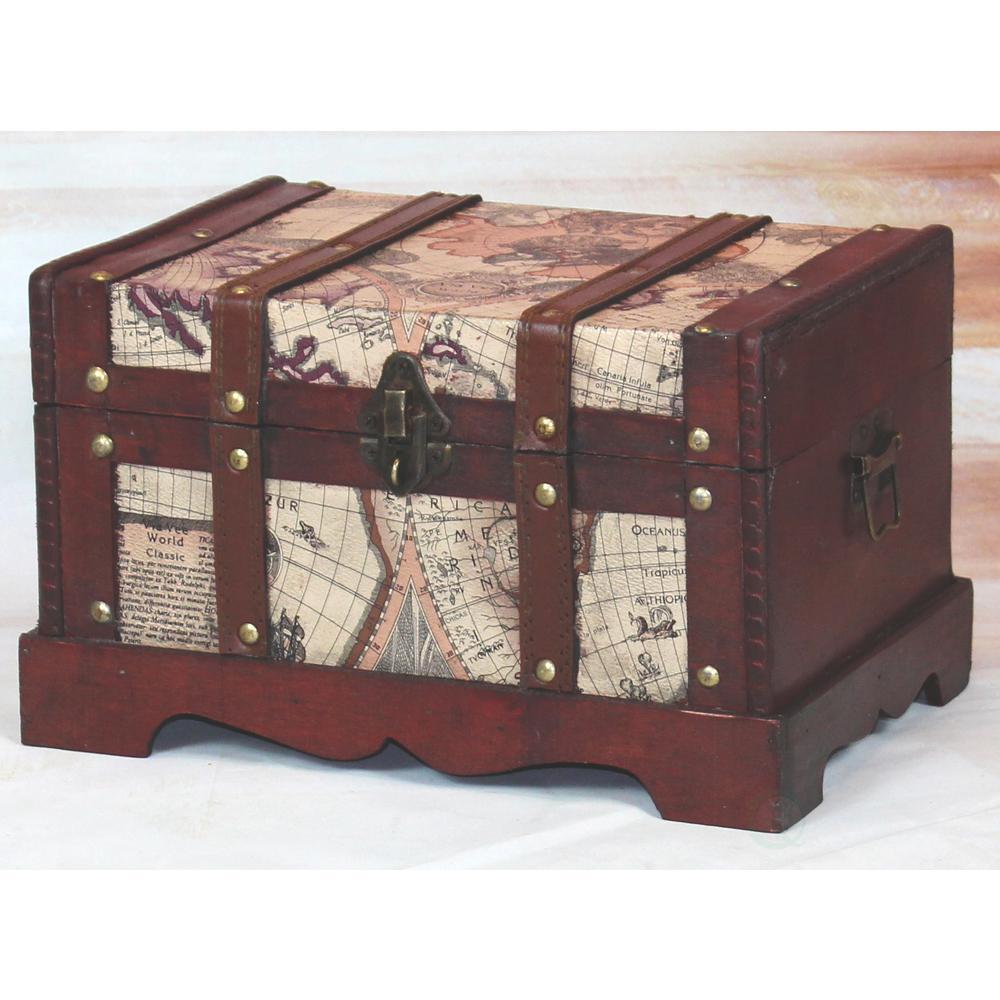 Vintiquewise Antique Large Brown Trunk
