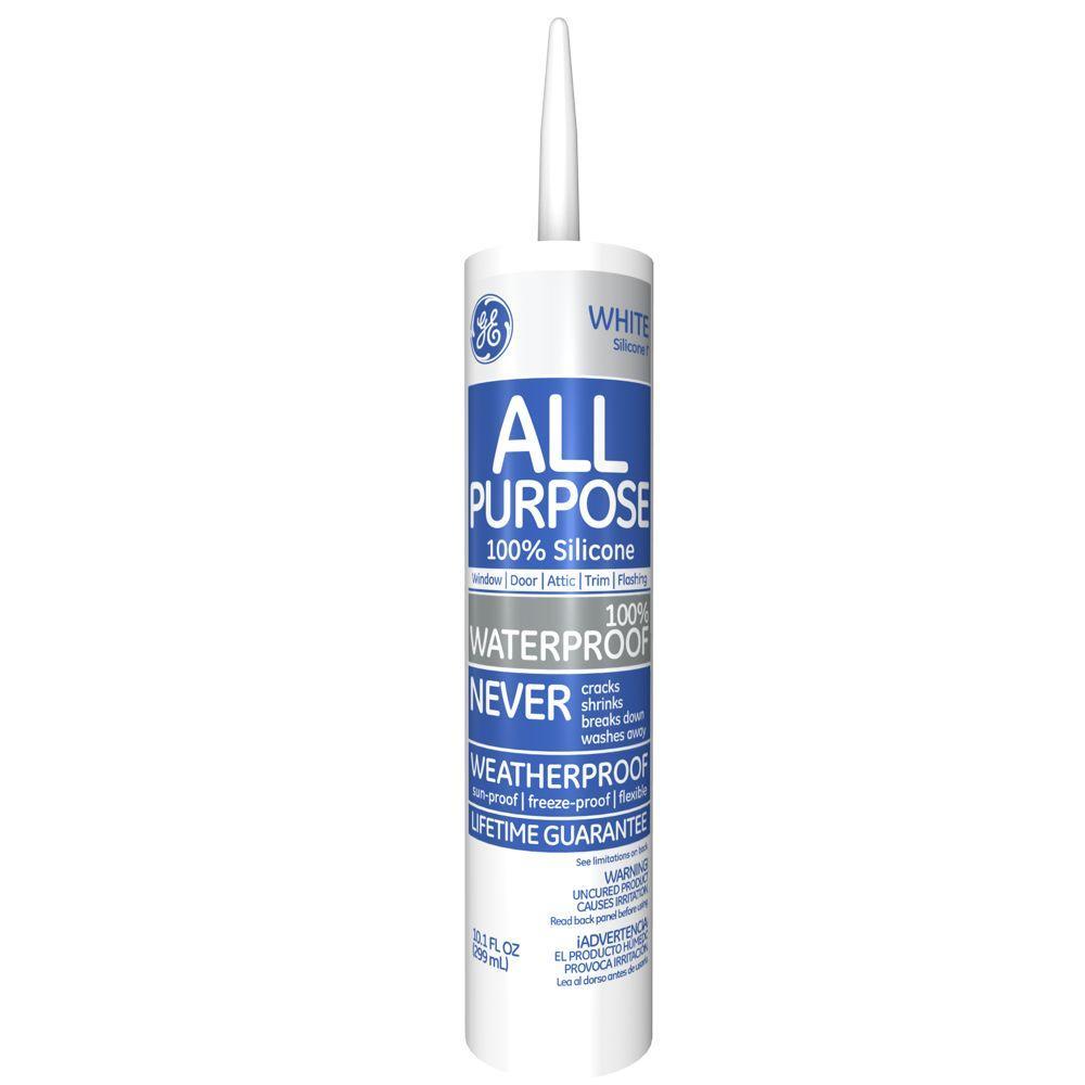 GE All Purpose Silicone I 10.1 oz. White Window and Door Caulk