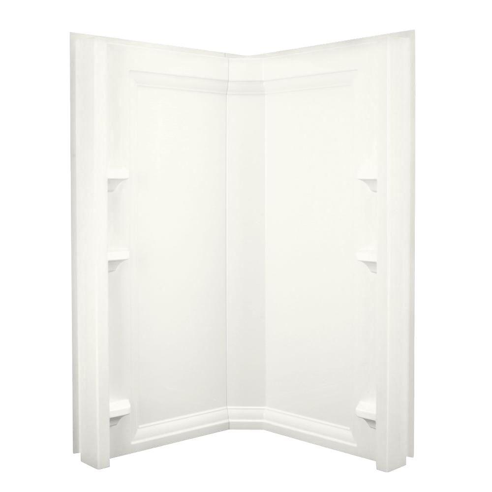 KOHLER Memoirs 34-3/4 in. x 41-1/8 in. x 74-1/8 in. Two Piece Direct-to-Stud Shower Wall in White-DISCONTINUED