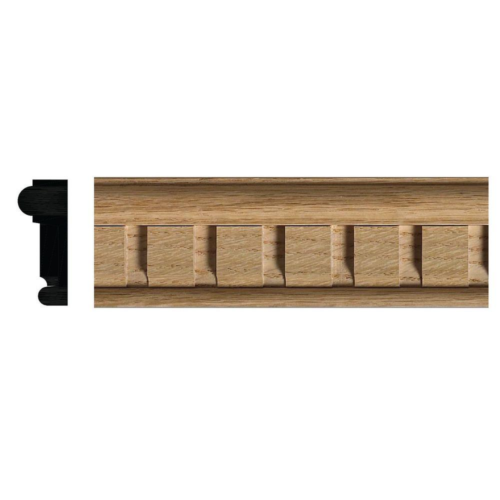 Ornamental Mouldings 27/32 In. X 2-1/8 In. Red Oak Dentil
