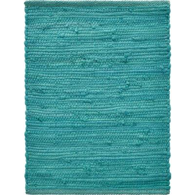 Tide Solid 19 in. x 13 in. Teal Cotton Placemat (Set of 4)