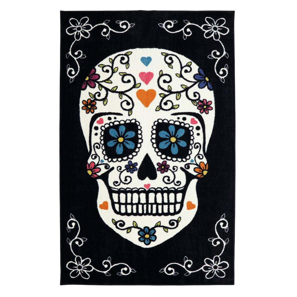 Sugar Skull Rainbow 5 ft. x 8 ft. Indoor Area Rug
