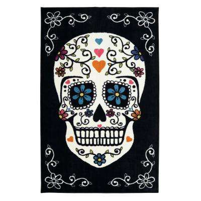 Sugar Skull Rainbow 5 ft. x 8 ft. Area Rug