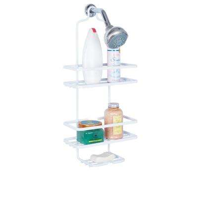 Aluminum Shower Caddy in White