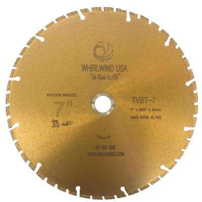 7 in. 48-Teeth Segmented Diamond Blade for Dry and Wet Metal Cutting
