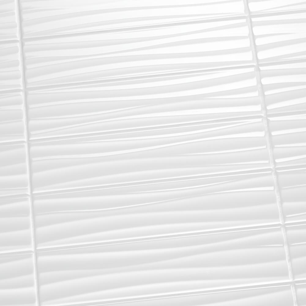 Re Bright White 4 In X 16 Ceramic Wavy Wall