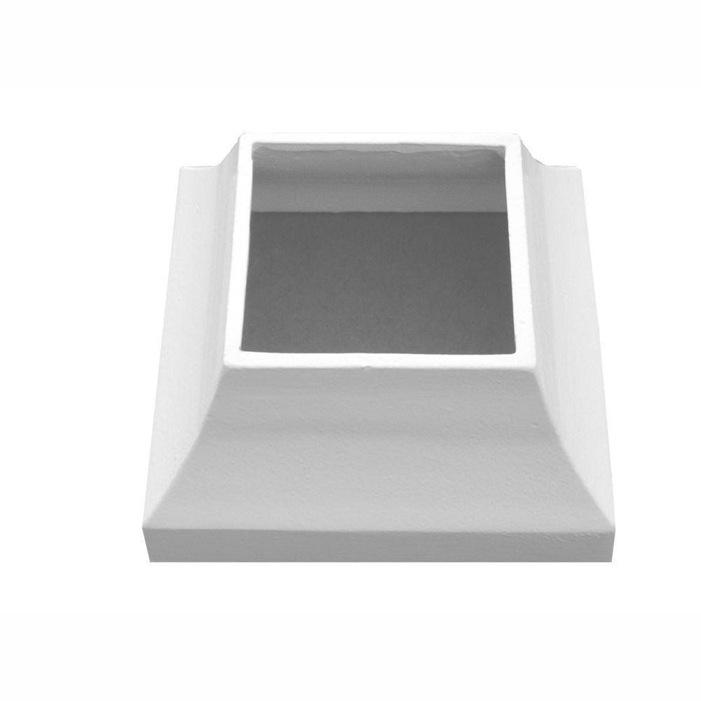 EZ Handrail 3 in. x 3 in. White Aluminum EZ Post Decorative Base Cover