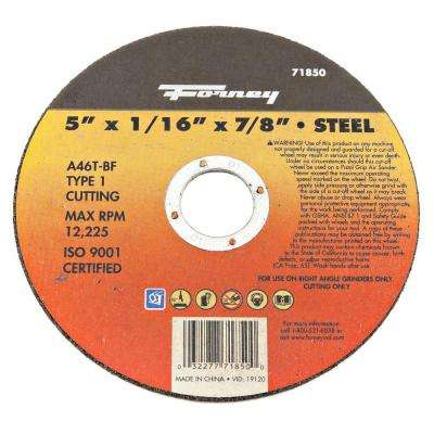 5 in. x 1/16 in. x 7/8 in. Metal Type 1 Cut-Off Wheel