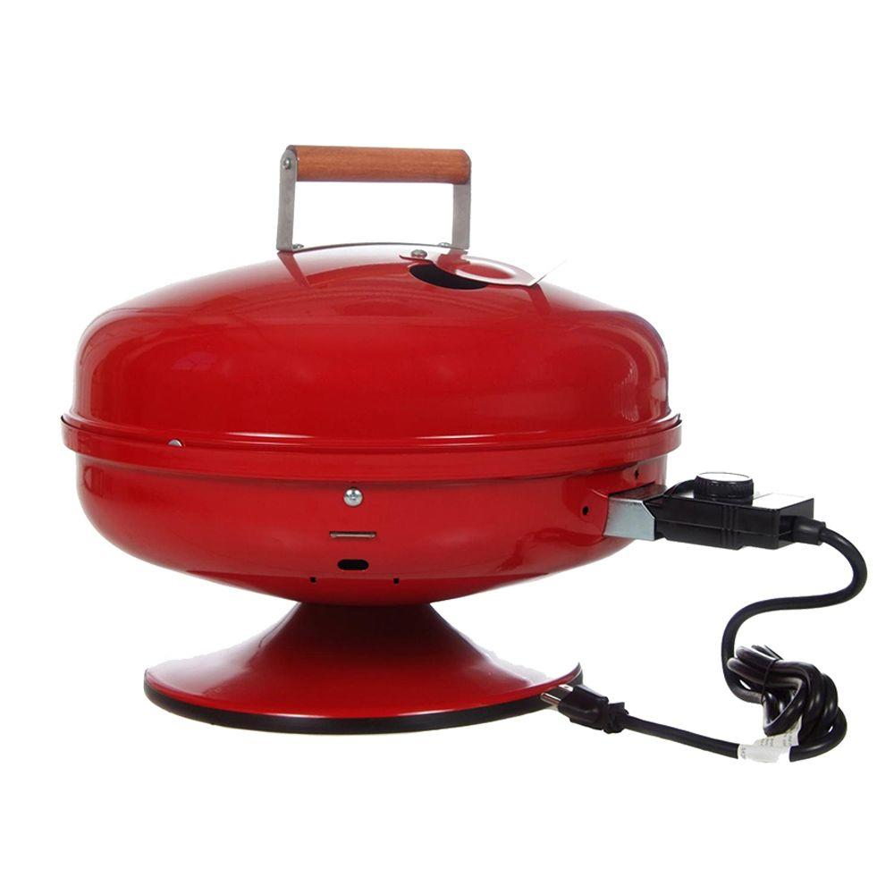 Americana Lock N Go Portable Electric Grill In Red
