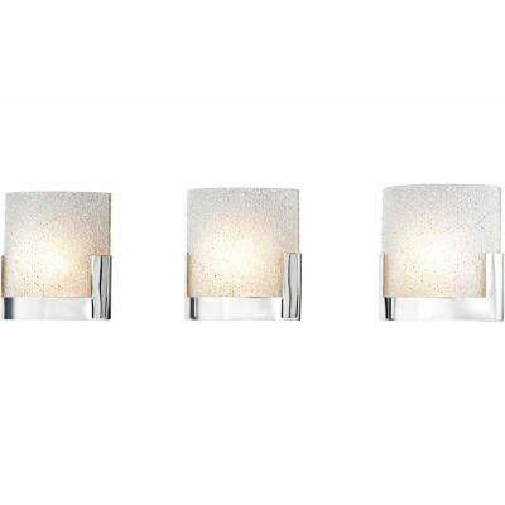 Ophelia 3-Light Chrome and Clear Glass LED Vanity Light