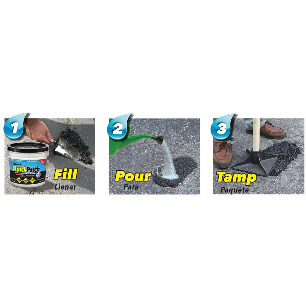 Latex Ite 3 5 Gal Quick Patch H2o Water Activated Asphalt Patch 51916 The Home Depot