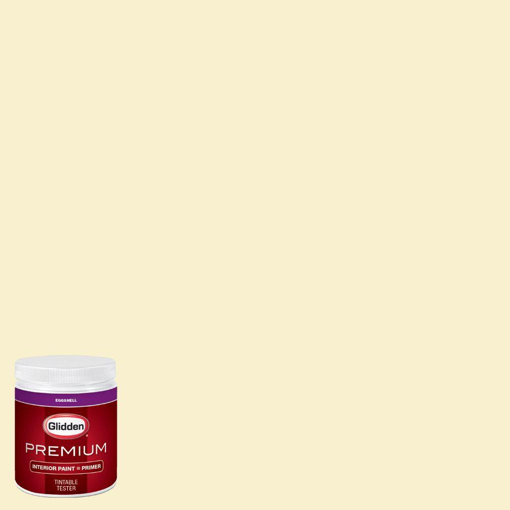 High Quality #HDGY30 Candlelight Yellow Eggshell Interior Paint With Primer Tester