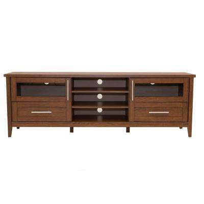 Modern Oak TV Stand with Storage for TV's Up To 75 in.