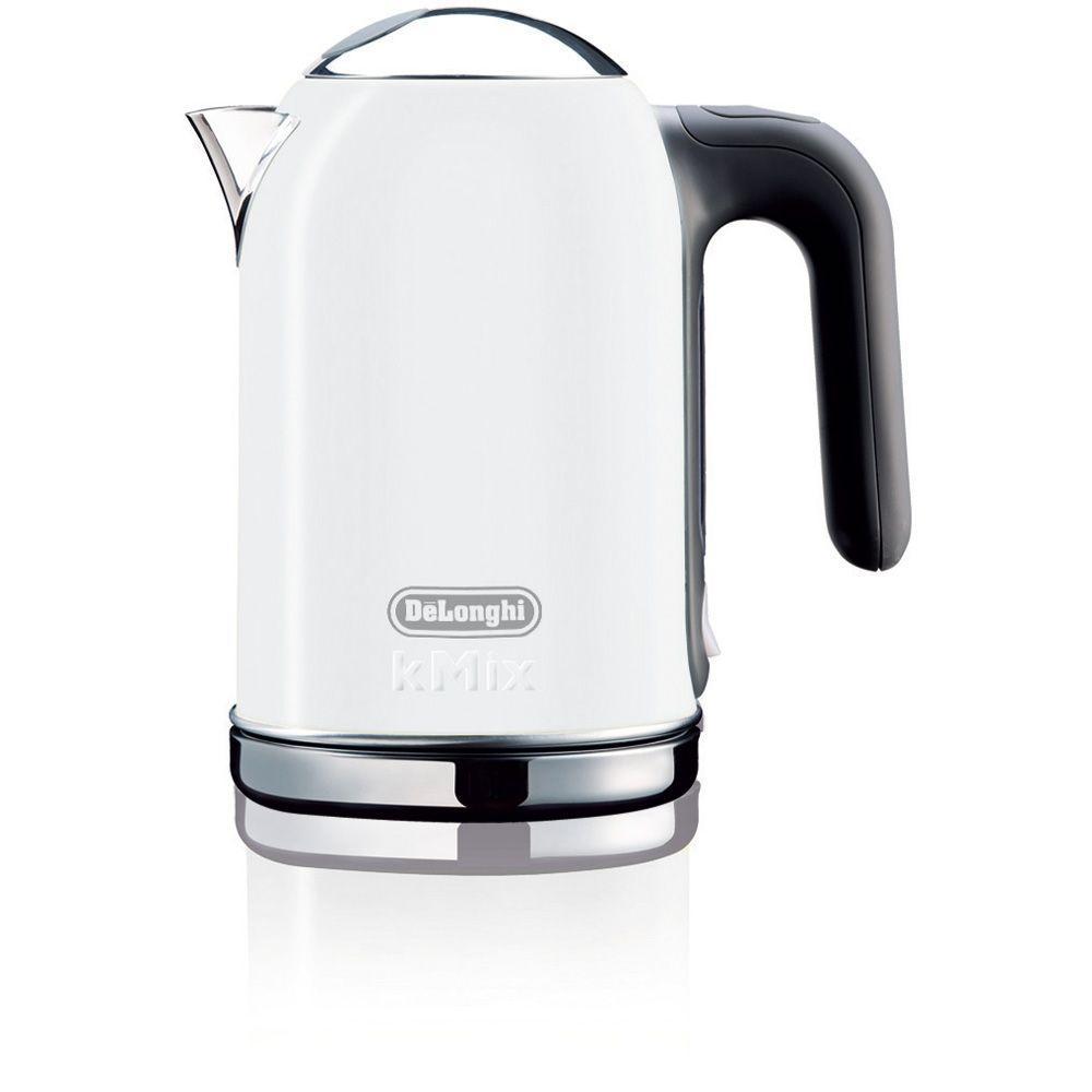 DeLonghi kMix 1.6 Liter Electric Kettle in White