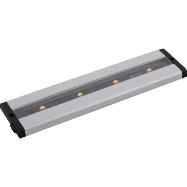 CounterMax 12 in. LED Brushed Aluminum Under Cabinet Light