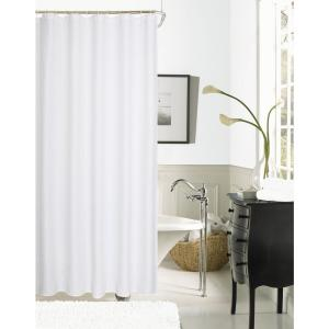 Hotel Collection Waffle 72 inch White Shower Curtain by