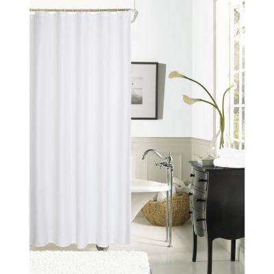 Hotel Collection Waffle 72 in. White Shower Curtain