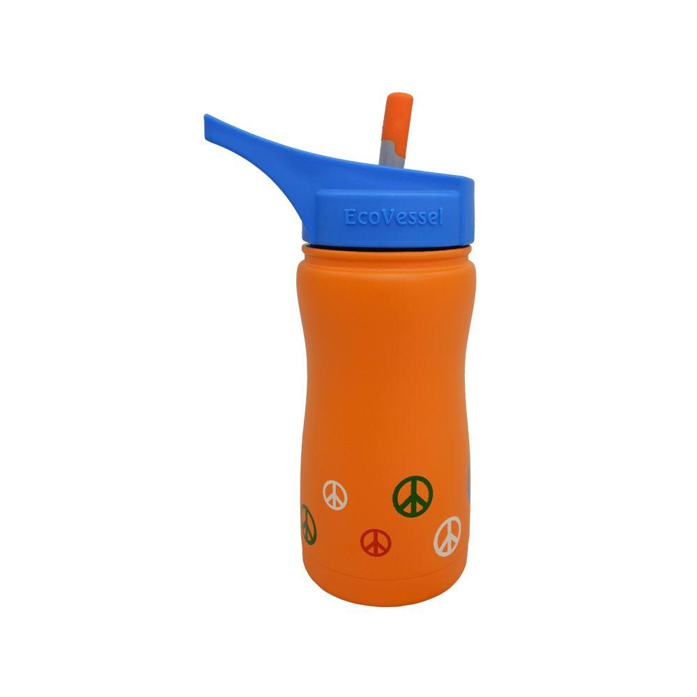 13 oz. Frost Kids Insulated Bottle with Straw Top - Orange