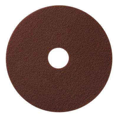 17 in. Maroon Chemical Free Floor Stripping/Scrub Pad (10-Pack)