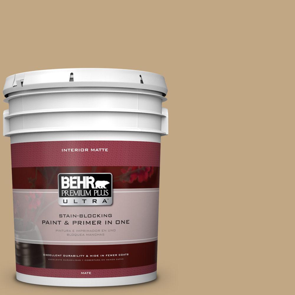 BEHR Premium Plus Ultra 5 gal. #N290-5 Pocket Watch Matte Interior Paint