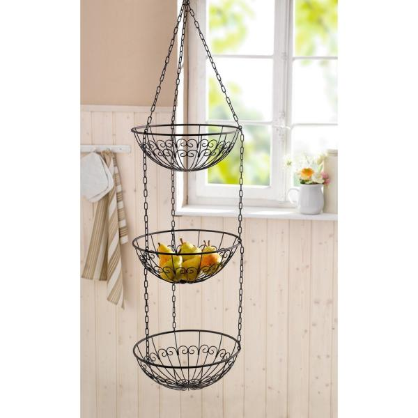 3 Tier Metal Wire Hanging Fruit Bowl Basket Hd229136 P The