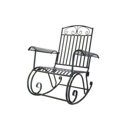 French Quarter Collection Metal Steel Outdoor Rocking Chair