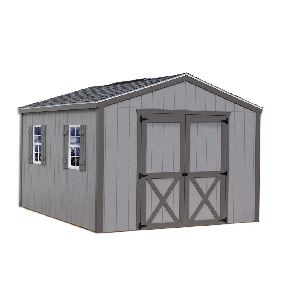 Wood storage shed kit