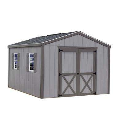 Elm 10 ft. x 16 ft. Wood Storage Shed Kit