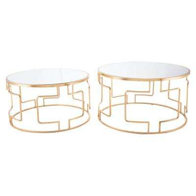 Gold Accent Tables Living Room Furniture The Home Depot