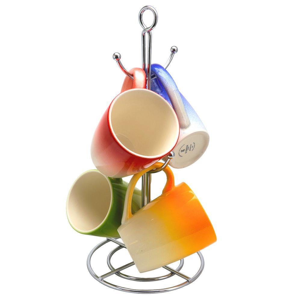 Color Gloss 12 oz. Assorted Color Mug (Set of 4)