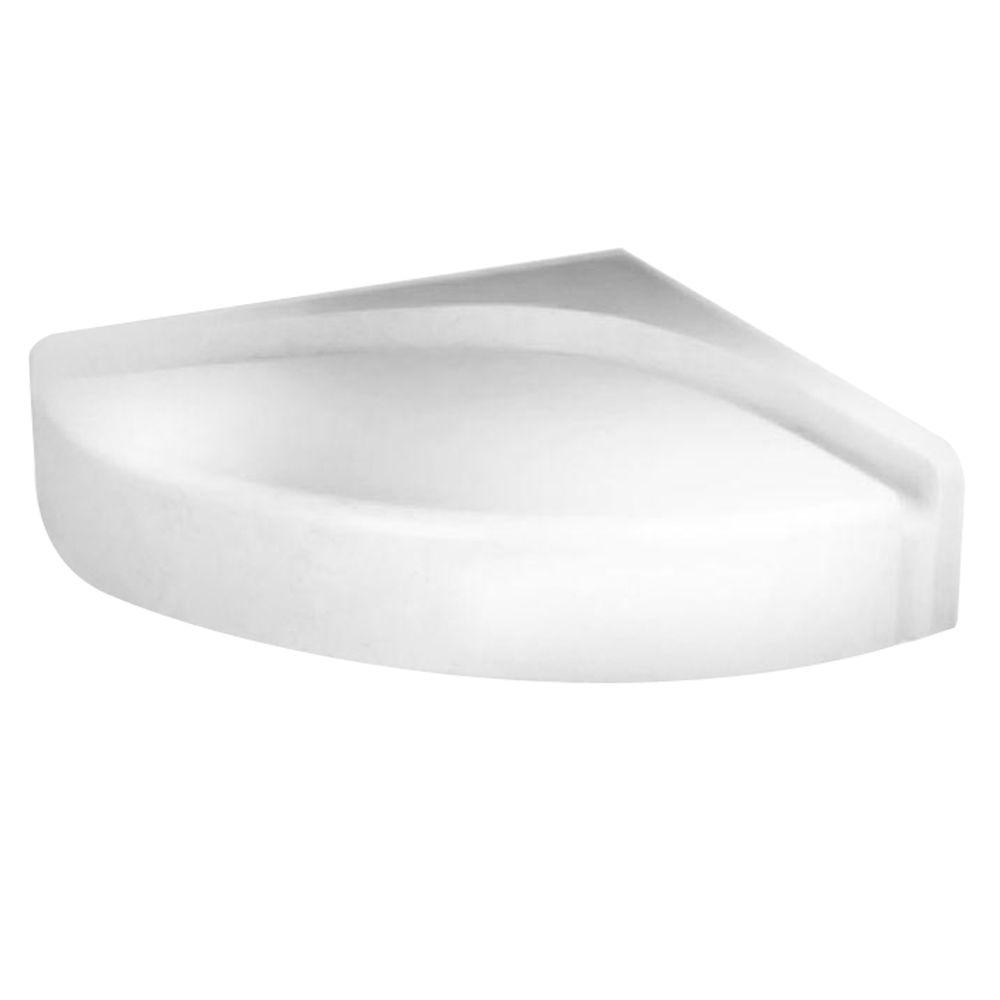 Swan Corner Mount Solid Surface Shower Seat in White