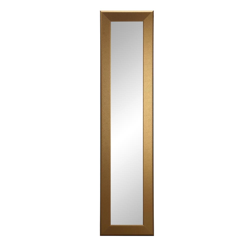 Brandtworks Designer Gold Slim Full Length Mirror Bm64skinny The Home Depot