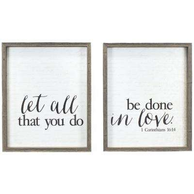 """""""Done in Love"""" Duo by KDM Framed Printed Wall Art"""