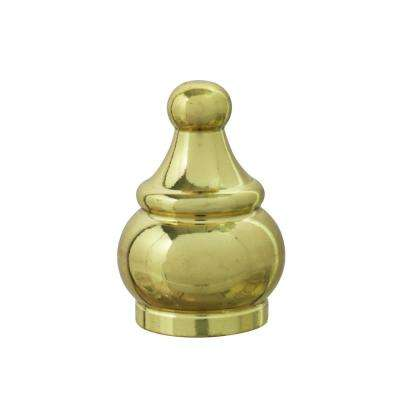 1-1/2 in. Brass Plated Steel Lamp Finial (1-Pack)