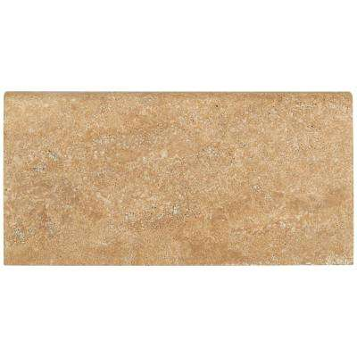 Mediterranean Walnut 12 in. x 24 in. Brushed Travertine Pool Coping (15 Pieces / 30 Sq. ft. / Pallet)